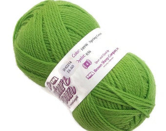 Destash yarn Brown Sheep Co wool worsted yarn Nature Spun, color Spring Green, sale yarn