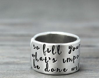Personalized Inspiration Ring Inspirational Jewelry