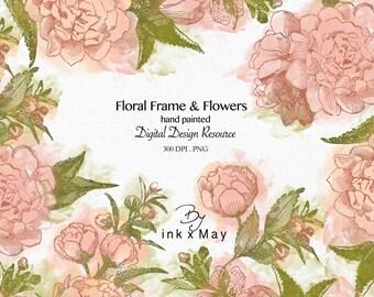 High Resolution 5 Floral clip art Transparent PNG Digital Design Resource Instant Download