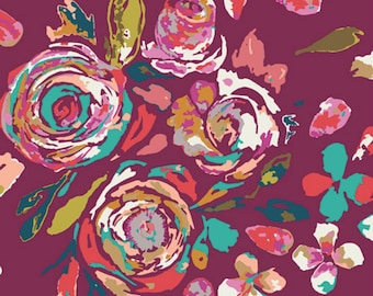 Art Gallery - Boho Fusion Collection - RAYON Swifting Flora in Boho