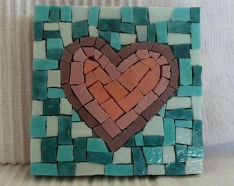 Little Love Heart Abstract - Mosaic Wall Art - Home Décor - choose 1