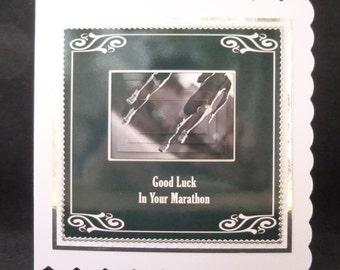 Good Luck Card, Marathon Card, Marathon Running Card, 26 Miles Card,  3d Decoupage Card, Handmade in the UK