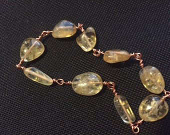 Citrine & Copper Bracelet