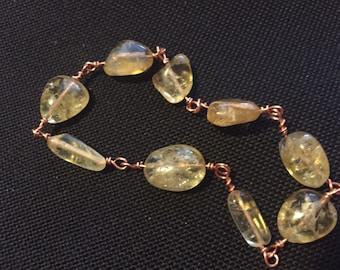 Citrine & Copper Bracelet