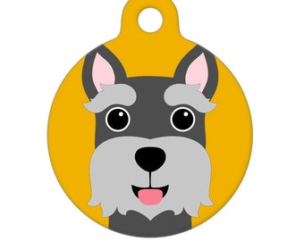 Pet ID Tag - Mini Schnauzer Pet Tag, Dog Tag