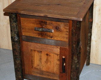 Lodge Style HICKORY  LOG End TABLE