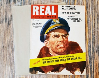 Vintage February 1955 Magazine 'REAL: The Exciting Magazine For Men', Marilyn Monroe