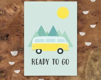 "Postcard - VAN ""Ready to go"""