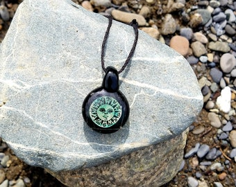 Astrological Dichro Glass Pendant