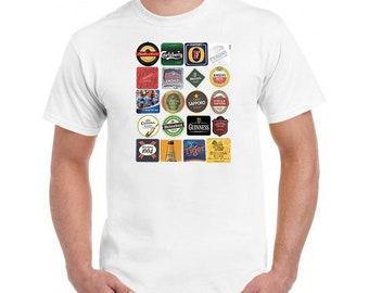 Beer Mats Design T Shirt