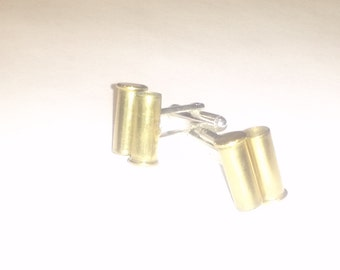 READY to Ship Gun Gift, Cuff links made from reclaimed 22mm bullet casings, Shooting Gift For Men, Gift Under 25