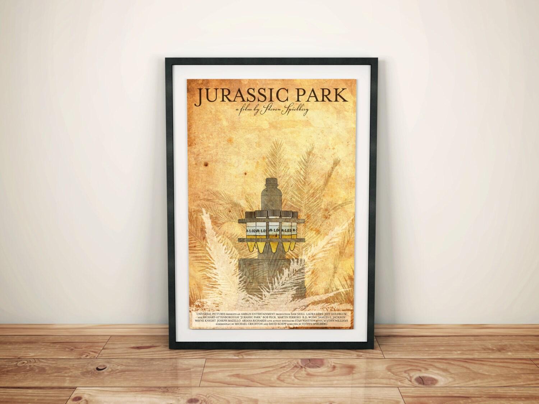 Jurassic Park: Retro SciFi Movie Poster // Cold Storage //
