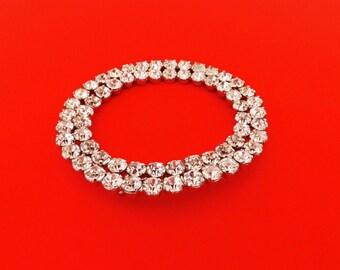 1950s Vintage Brooch with Diamond Rhinestones, Coat Brooch, Rhinestone Brooch, Costume Jewelry, Vintage Ladies Accessories, Dressy Jewelry,