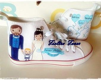 Wedding converse, wedding shoes, Wedding converse shoes, customized sneakers, customized shoes, boyfriends shoes, sneakers, wedding, Dating,