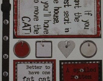 Bo-Bunny Press - Cardstock Stickers - Cats Meow