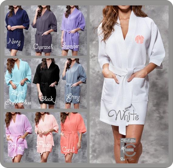 Waffle Kimono Robe, Spa Robe, Hotel Robe, Bridesmaids Gift, Weeding day, Bridal Party Gift, Brides Robe, Monogrammed Robe FREE MONOGRAM