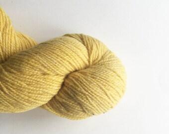 Mystery Wool Yarn Single Ply Gold Yellow Yarn
