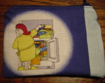 Novelty Becky me quilt stash sewing quilters handmade zipper fabric coin change purse card holder