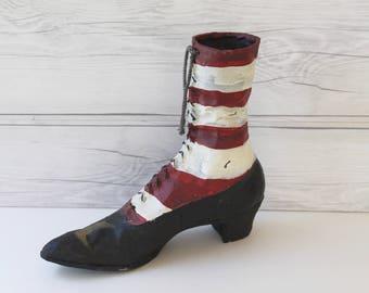 Vintage Witch's Boot Halloween Decoration, Halloween Prop