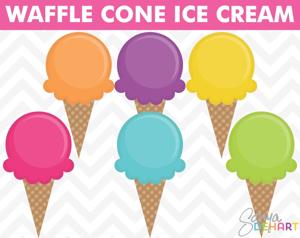 Ice Cream Clipart Summer Clipart Birthday Clipart Party