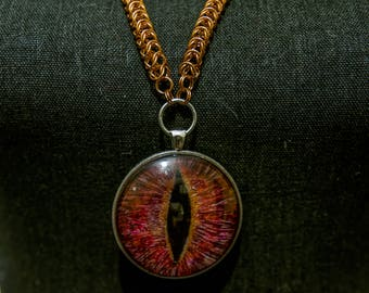 boxchain bronze necklace of the dragons eye