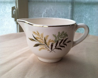 Vintage Harvest Leaves Creamer USA