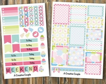 Easter Set Weekly Planner Stickers