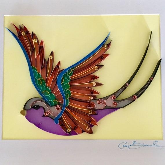 Unique Handmade Paper Art / Quilling Artwork / Bird Artwork /