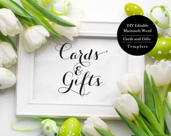 Gift Table Sign, Cards and Gifts Sign, Wedding Signs, Wedding Cards Sign, Card Table Sign, Wedding Printables, Cards and Gifts Print, MSW63