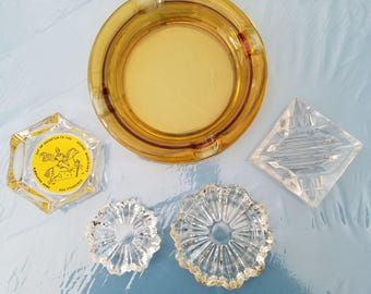 Vintage Glass Ashtrays (5)