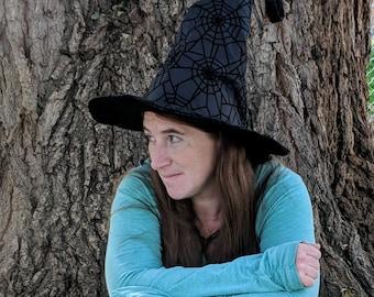 Black Spiderweb Witch Hat
