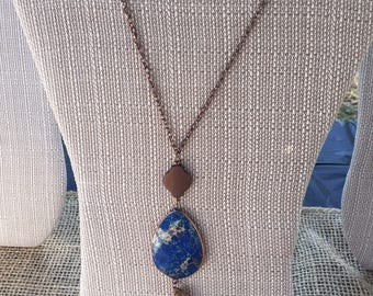 Natural Stone Fringe Necklace