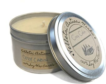 Cozy Cabin   Eco Friendly Soy Wax   Best Scented Candles   Scented  Soy Candles    Soy Candle Wax   Homemade Candles   Winter Candles   8 oz