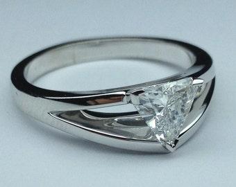 Trillion cut diamond Etsy