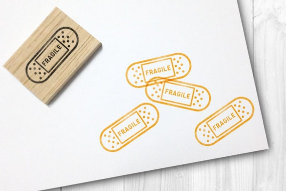 Fragile rubber stamp free shipping worldwide reheart Gallery