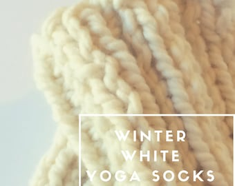 Cuffs, Ready to ship White Yoga socks, Boot Toppers, One Size Fits All leg warmers