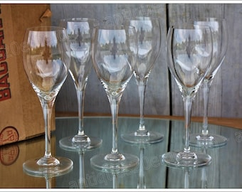 Set of 6 water glasses in Baccarat crystal model St Remy