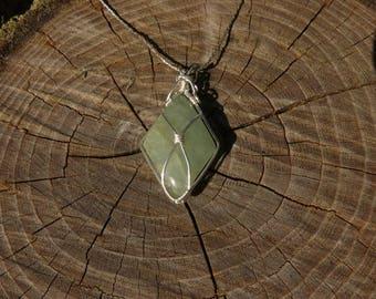 Aquamarine Wire Warpping pendant