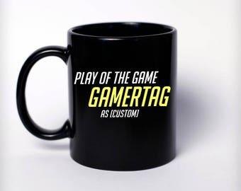 Custom Play Of The Game Mug   Overwatch Gift, Nerd Gift, Nerd Birthday,