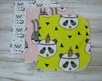 Baby burp cloths Set of 3. Baby gift. Ready to ship.