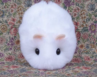 Little White Hamster Handmade Plush Toy