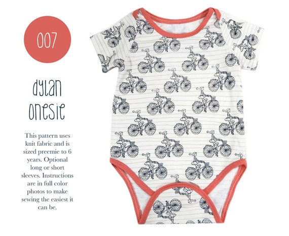 007 Dylan Onesie PDF Sewing Pattern Kids Baby Boy Girl Kid