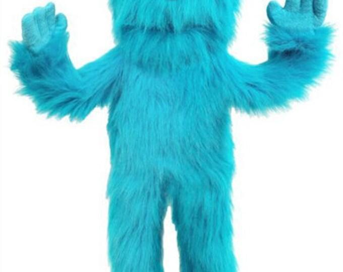 "New 30"" BIG MONSTER PUPPET w/ Cartoon Eyes - Professional Full Body Muppet Puppet w/ Arm Rod - Blue"