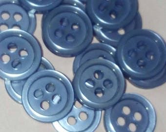 set of 18 buttons round two-tone purple 10 mm sewing scrapbooking