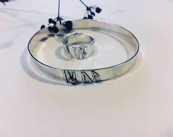Stems and Seeds Sterling Silver bangle and ring