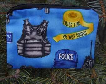 Police coin purse, gift card pouch, credit card pouch, milk money pouch, Police Equipment, The Raven