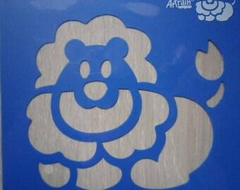 Stencil reusable plastic LION new