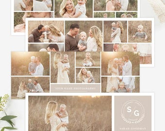 Collage Facebook Cover Templates for Photographers, Facebook Timeline Cover Templates Photoshop, Facebook Cover Photo Header Template FB9598