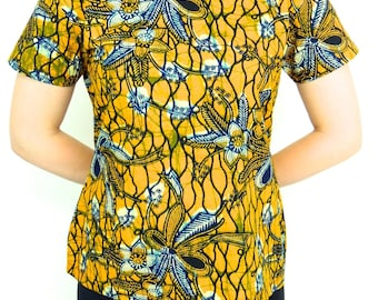 ankara top, latest ankara blouse, latest ankara tops for women, African tops for women, African tops and blouses, ankara tops, ankara