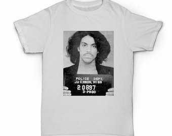 Prince T-shirt - The artist formally known as - Purple Reign - mugshot - 1999 - erotic city